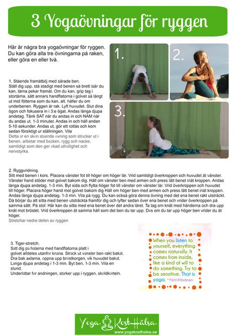 yogaövningar för ryggen