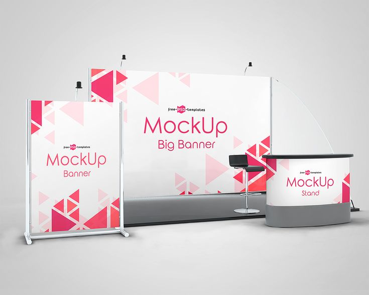 3 Exhibition Stand Mock Ups Free In Psd Exhibition Stand Web Banner Design Free Mockup