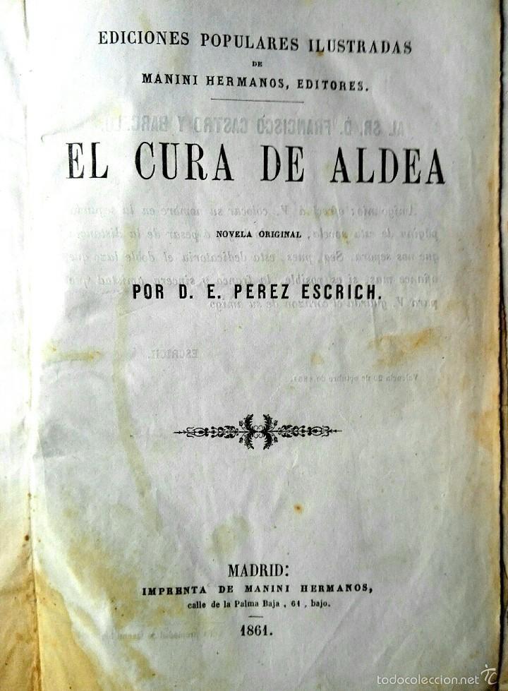Libros 1861, trilogía: El cura de aldea+ Caridad cristiana Tomos I y II. 1ª y 2ª Ed, respectivamente - Foto 1