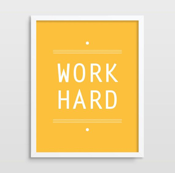 office art typography print inspirational quote home