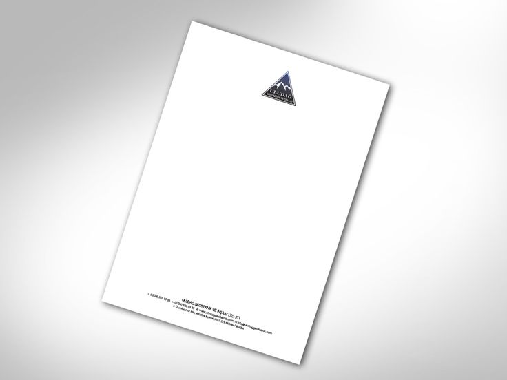 A4 PAPER ANTETLİ KAĞIT TASARIMI