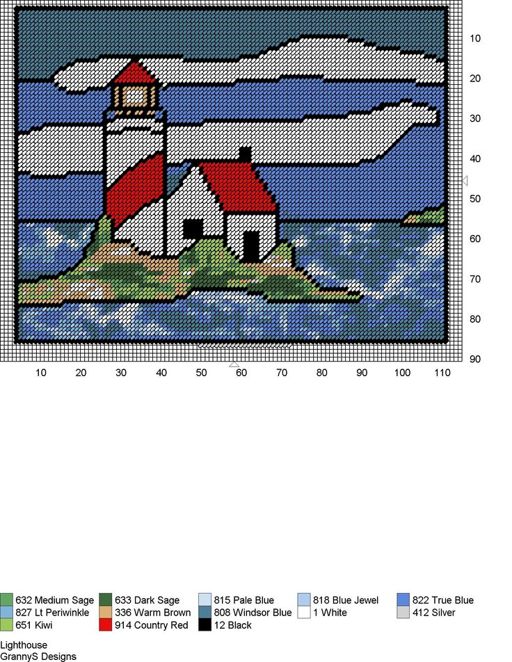 LIGHTHOUSE by GrannyS Designs -- WALL HANGING