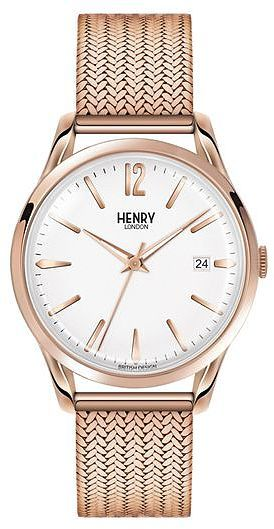 Womens rose gold richmond and white watch by henry london from Topshop - £115 at ClothingByColour.com
