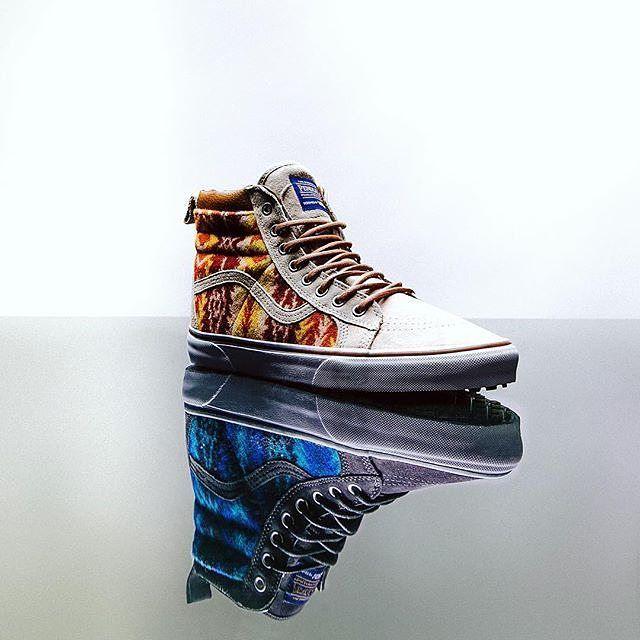 Shoe love #pendleton #vans #collaboration #pendletonxvans #sneakers #hitops #sk8-hi #woolshoes