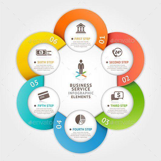 modern business circle template infographics 2015