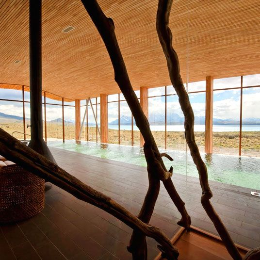 Tierra Patagonia Hotel & Spa offers luxurious rooms that blend with the landscape of Patagonia's National Park. See reviews & book on Tablet.