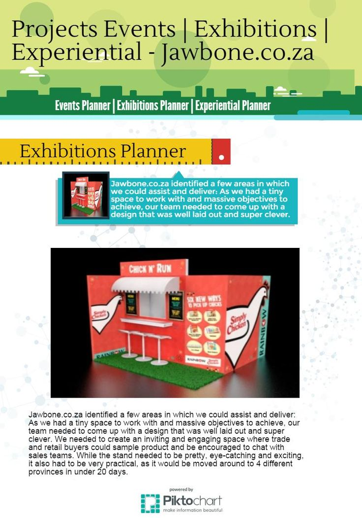 Jawbone.co.za Projects Events | Exhibitions | Experiential @ https://magic.piktochart.com/output/7089388-untitled-infographic