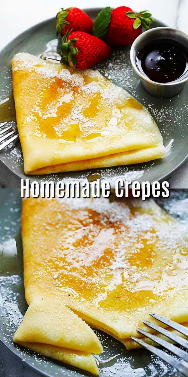 Homemade Crepes Easy Crepes Recipe That Anyone Can Make At Home No Fancy Utensils Needed Just A Nonstick P Homemade Crepes Sweet Crepes Sweet Crepes Recipe