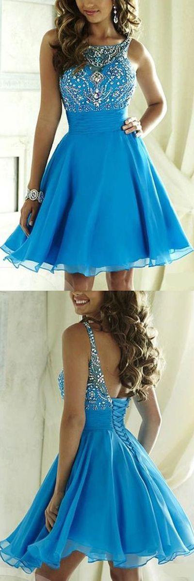 Short Blue Prom Dresses,Cheap Homecoming Dresses,Junior Homecoming Dresses, SH89