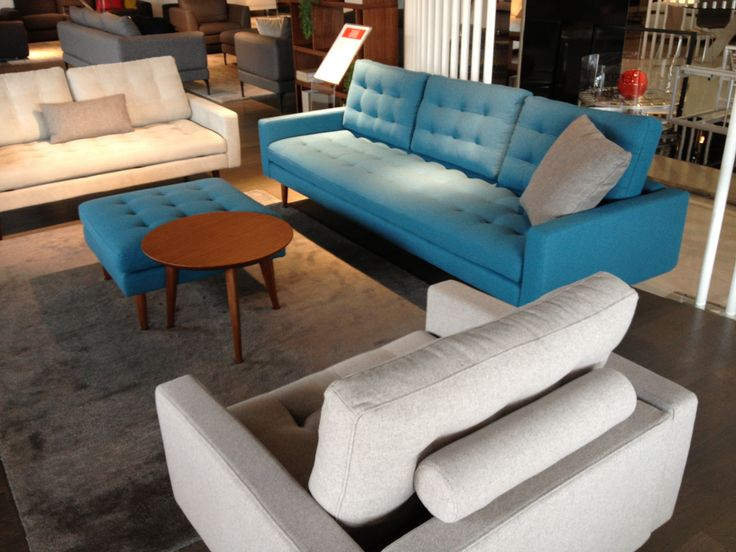 The King Furniture Uno Sofa in Oxford Cyan and Oxford Mink Fabric available from: http://www.kingfurniture.com.au/family(72)-uno.htm#2