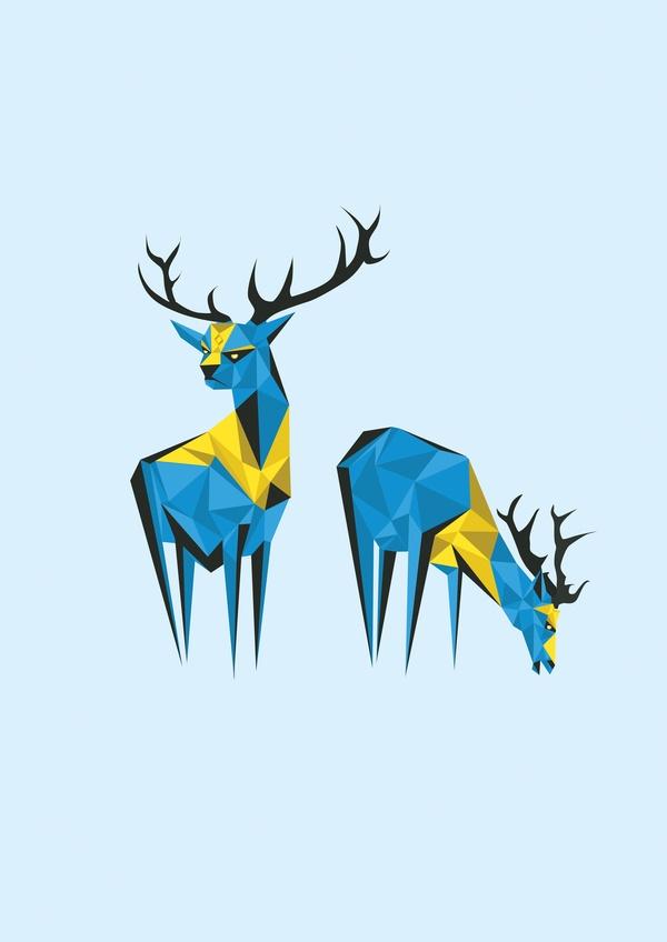 Caribou by Darren Oorloff, via Behance