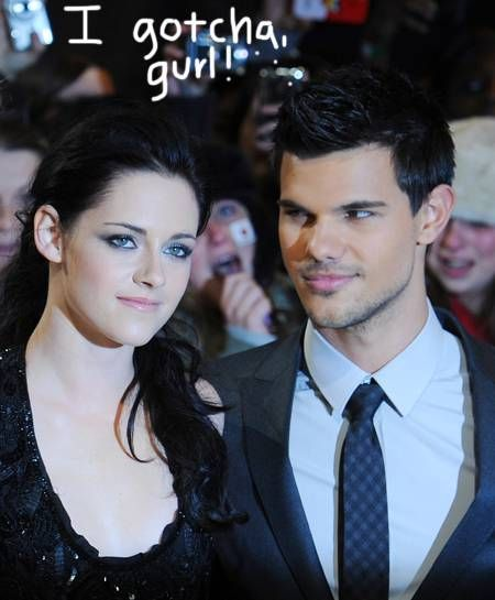 Taylor Lautner is comforting Kristen Stewart in Robert Pattinson's absence.