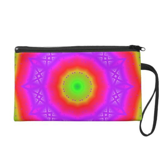 Happy Colors Cosmetic Bag by www.zazzle.com/htgraphicdesigner* #zazzle #gift #giftidea #cosmetic #bag #colorful #wristlet #clutch