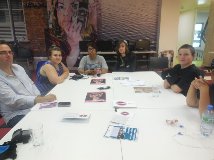 Participants to The Real Me workshop. Learning how to write a script for radio