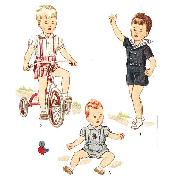 Simplicity 1200 Vintage 1940s Toddler Boys By DRCRosePatterns
