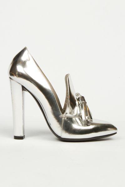 metallic: Open Ceremony, Loafers Heels, Wang Anais, Heels Loafers, Ceremony Loafers, Cinderella Shoes, Anais Heels, Silver Shoes, Metals Shoes