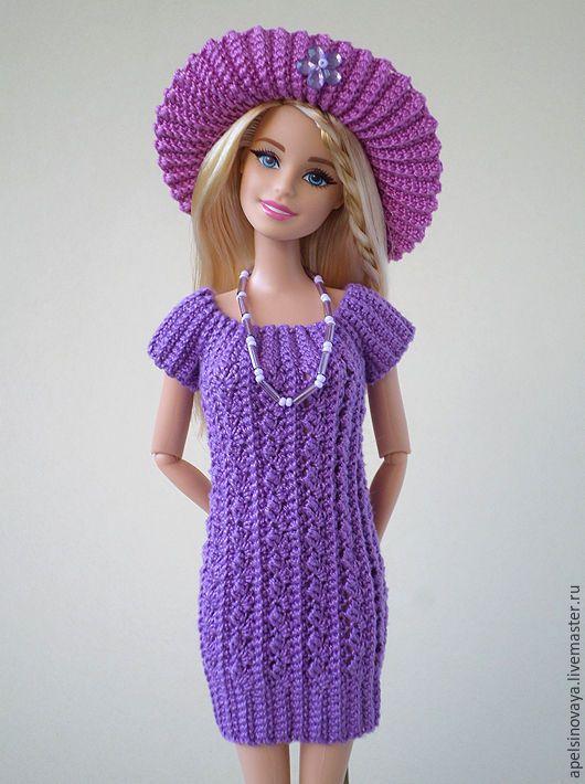 Купить Комплект одежды для Барби - тёмно-фиолетовый, фиолетовый, барби, barbie, одежда для кукол