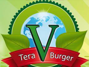 Tera V Burger - Vancouver's new all-vegetarian burger shop. Vegan-friendly.