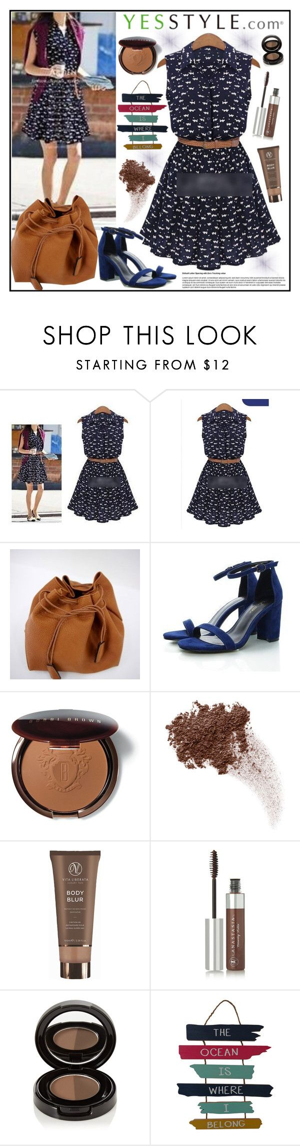 """YesStyle - 10% off coupon"" by gaby-mil ❤ liked on Polyvore featuring Arroba, Bobbi Brown Cosmetics, Bare Escentuals, Vita Liberata, Anastasia Beverly Hills, WALL, party, anniversary, celebration and yesstyle"