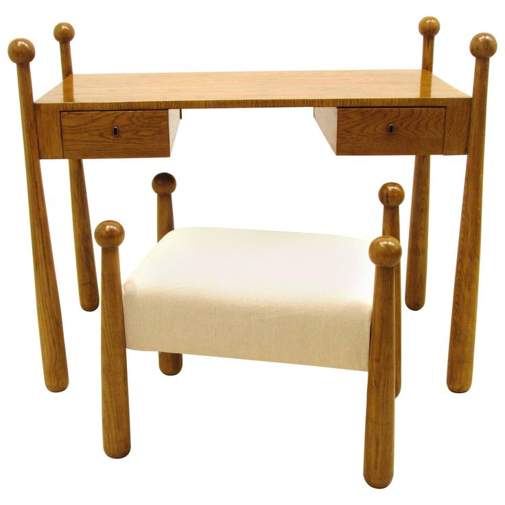 Jean Royere Quille Dressing Table Desk with Stool