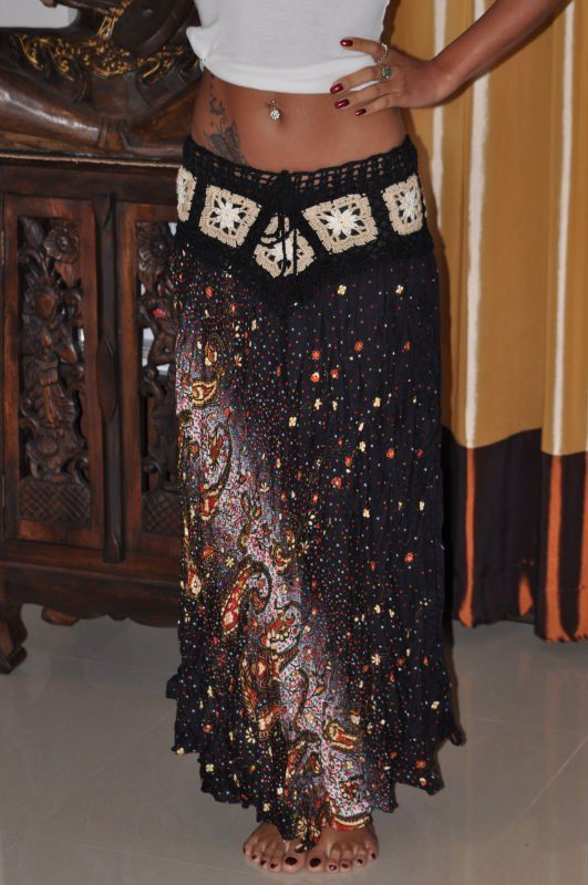 Thai Boho Gypsy Hippie Skirt ~ Love it!