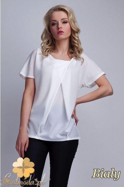 Bluzka z zakładką w kształcie litery A marki Lanti.  #cudmoda #moda #ubrania #odzież #clothes #bluzki