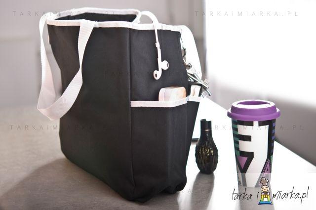 Czarna torba plażowa/na zakupy, Sagaform