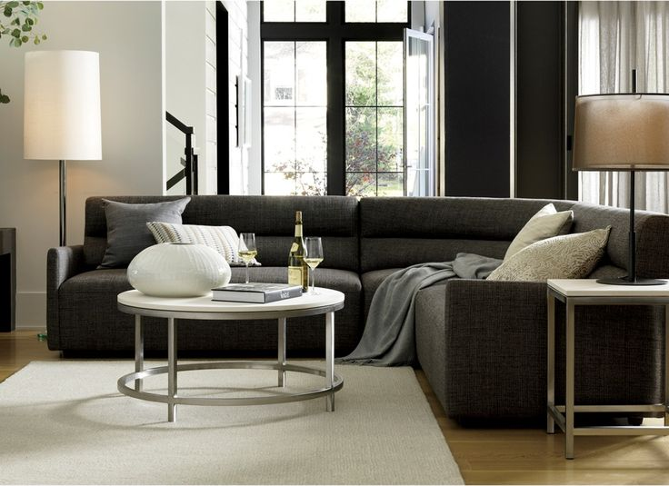 our sydney sectional rounds out modern living spaces with a conversation sparking curve and clean
