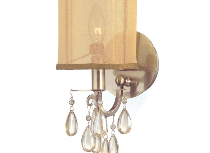 mantel sconce: Quinn Wall Sconce - Brass Hanging-lamps Mirrors-and-lighting Z Gallerie ...