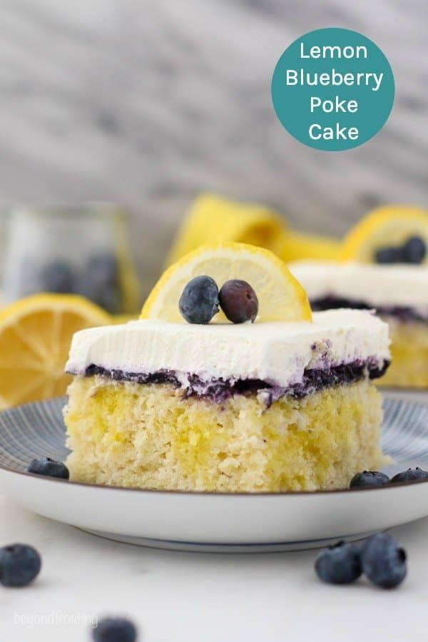 Lemon Blueberry Poke Cake Recipe Easy Pudding Cake Idea Recipe Poke Cake Poke Cake Recipes Easy Puddings