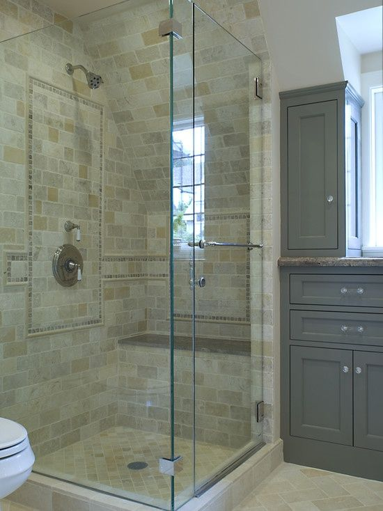 For Current Bathroom Shower Stall And Toilet Side By