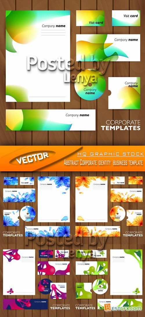 Stock Vector - Abstract Corporate identity business template