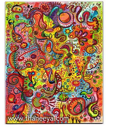 Funky and Psychedelic Abstract Art Painting in Watercolor. How to paint abstract art. Tutorials.