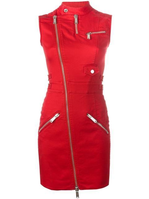 DSQUARED2  облегающее платье с молниями