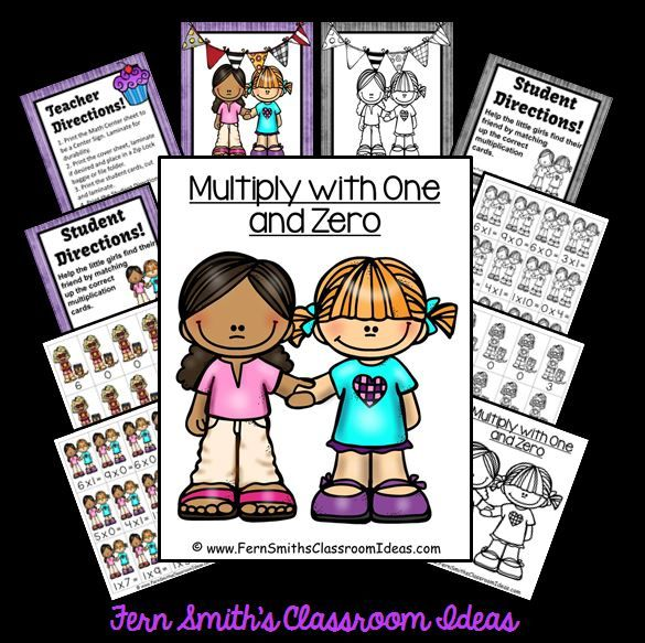 #FREE Multiply With One and Zero - Quick and Easy Center and Printables with No Common Core Listings and a cute Cupcake Theme This freebie reinforces the IDENTITY PROPERTY OF MULTIPLICATION and the ZERO PROPERTY OF MULTIPLICATION. Which are relatively easy in multiplication and that is why I am offering this cute, little center for FREE :) #TPT #NoCommonCore