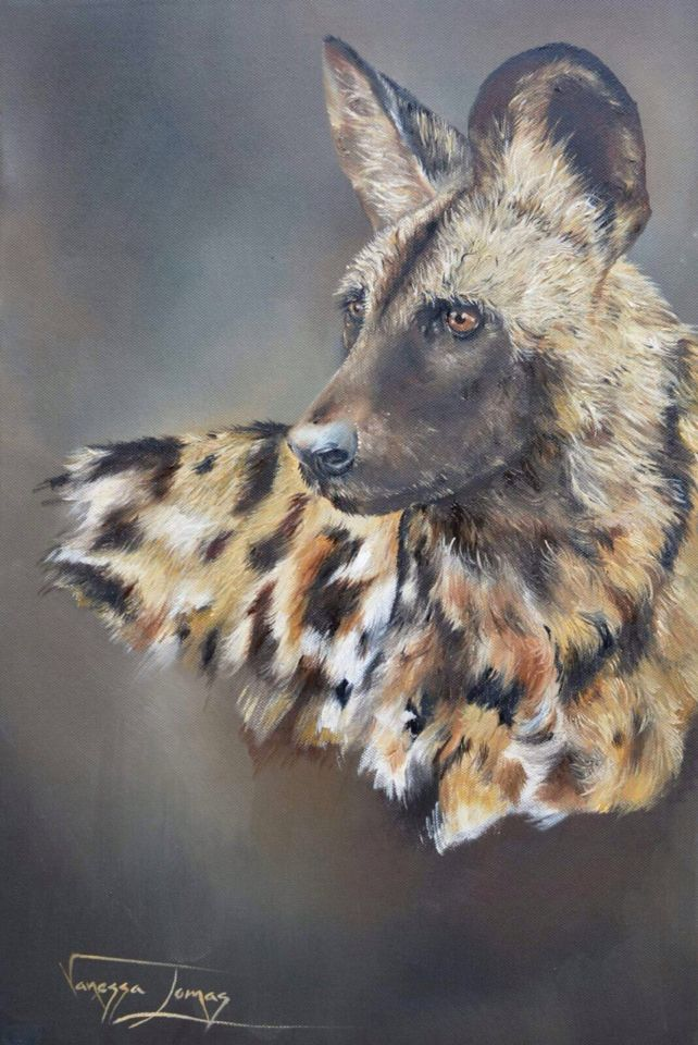 Majestic Wild dog portrait