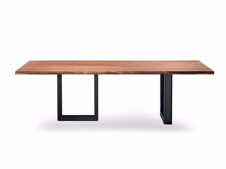 Rectangular wooden table SIGMA by Cattelan Italia design Philip Jackson