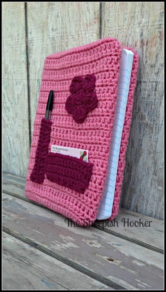 szydełkowa okładka crochet book cover