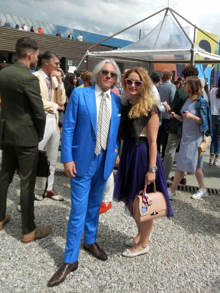 The Parisian Gentleman himself #pittiuomo #bluesuit