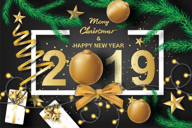 Happy New Year 2019 Merry Christmas Image Hd Happy Merry Christmas Happy New Year Wallpaper Happy New Year Images