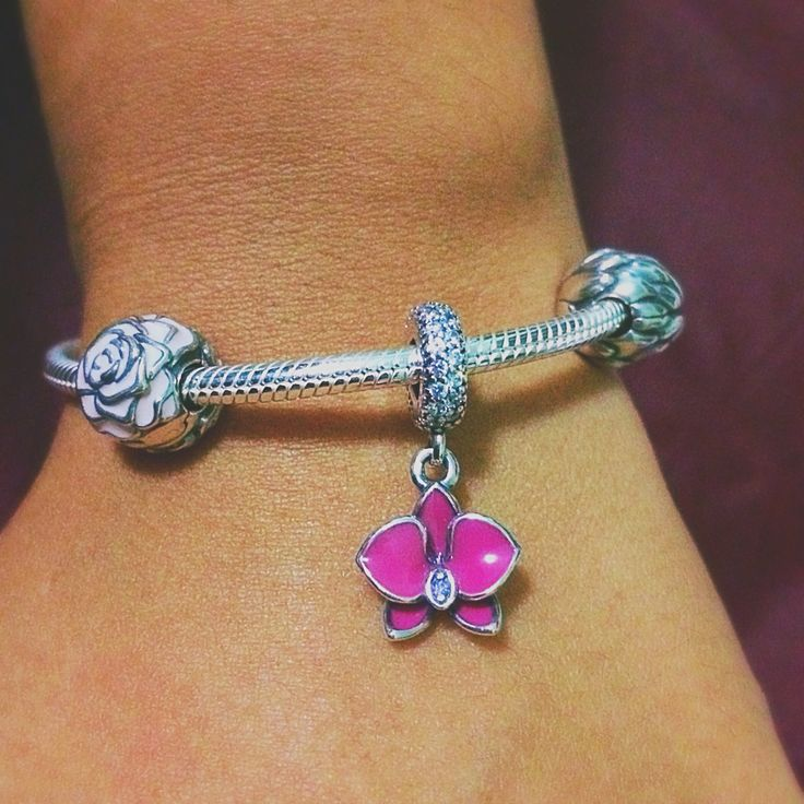 beautiful orchid charm that will make your bracelet pop mypandora by elbisreverri