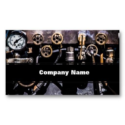 Steam Punk Gears and Gauges Business Card Templates