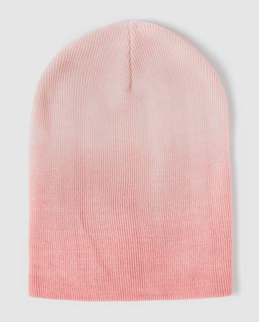 Gorro de niña Brotes en rosa degrade