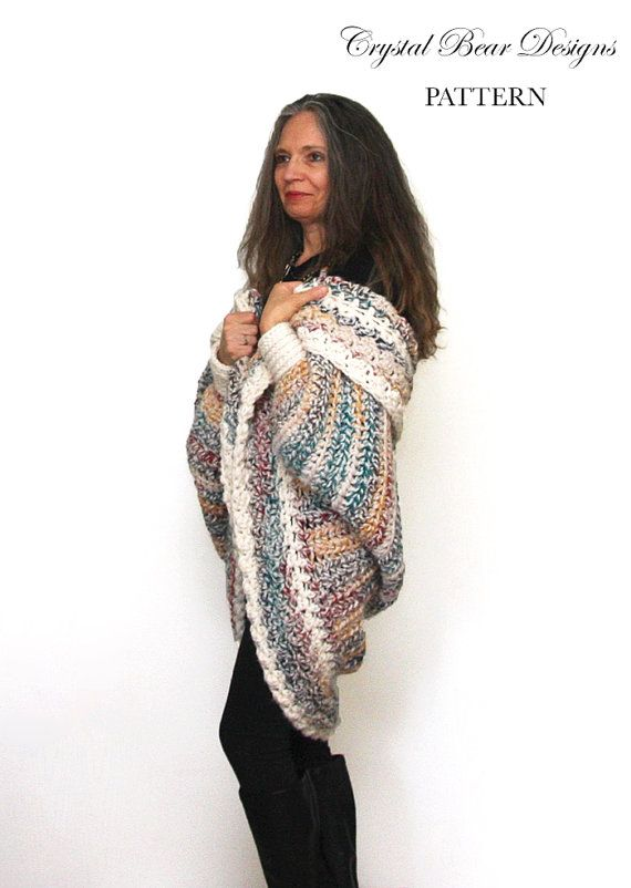 Easy Chunky Crochet Shrug PATTERN / Luxe Oversized Shrug ...