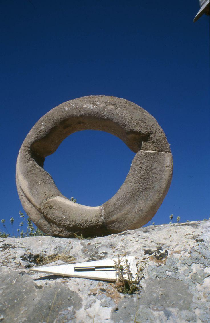 Large stone ring in Gobekli Tepe.