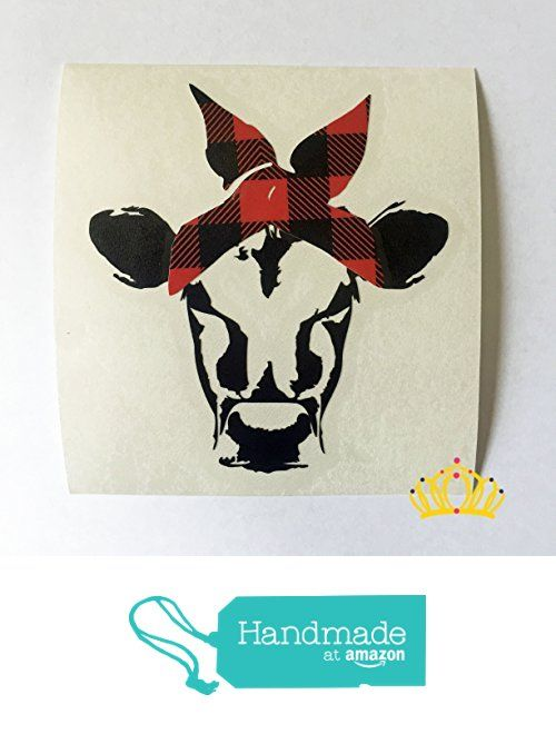 Cow with Plaid Bandana Country Vinyl Decal Sticker for Car Tumbler Cup or Laptop, 3.25 inches from Dash of Flair https://www.amazon.com/dp/B075TL3FTG/ref=hnd_sw_r_pi_dp_e-w0zbVH9K5MW #handmadeatamazon