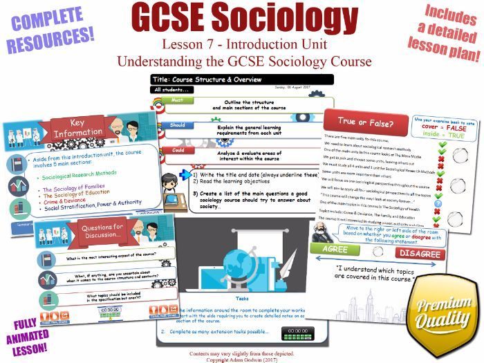 unit 1 sociology specification This bundle contains 20 lessons for the 'social stratification' section of the new gcse sociology specification whilst it is useful to any teacher of sociology, it was designed for the new aqa sociology gcse specification (8192) taught from september 2017.