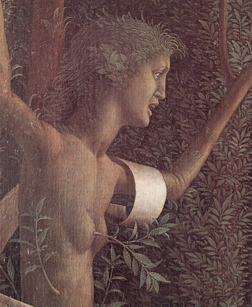 с.1499-1502.Triumph of the Virtues by Andrea Mantegna. Detail.Louvre Museum.