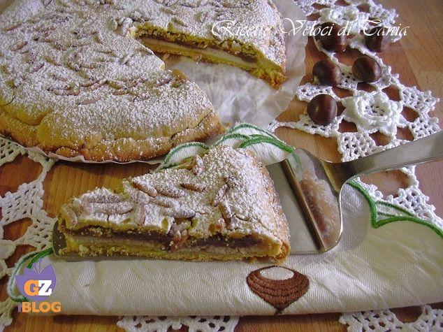 torta ricotta e crema di marroni
