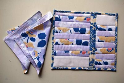 Jennifer's Fabric Focus ~ Quilted Snack Set Free Pattern « Sew,Mama,Sew! Blog: Sewmamasew, Free Patterns
